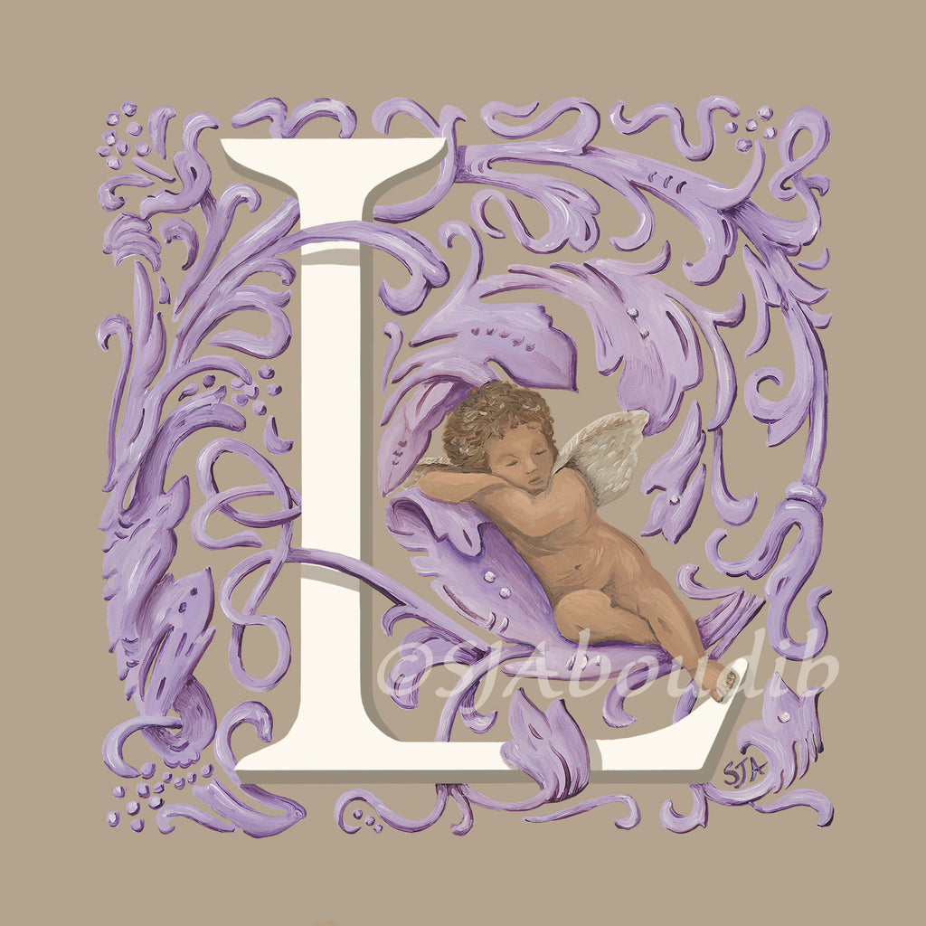 "Angel Alphabet ""L"""