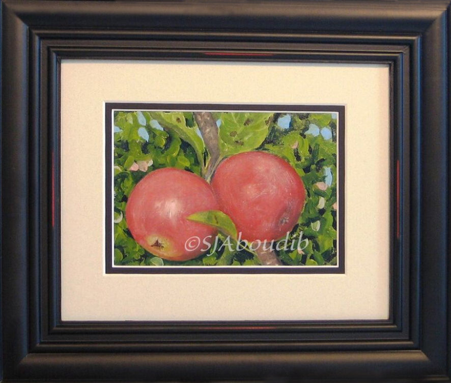 Apple Pair Original Oil Painting