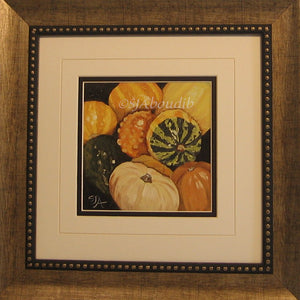 Harvest Gourds Original Oil Painting