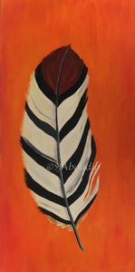 Indian Feather Original Oil on Canvas