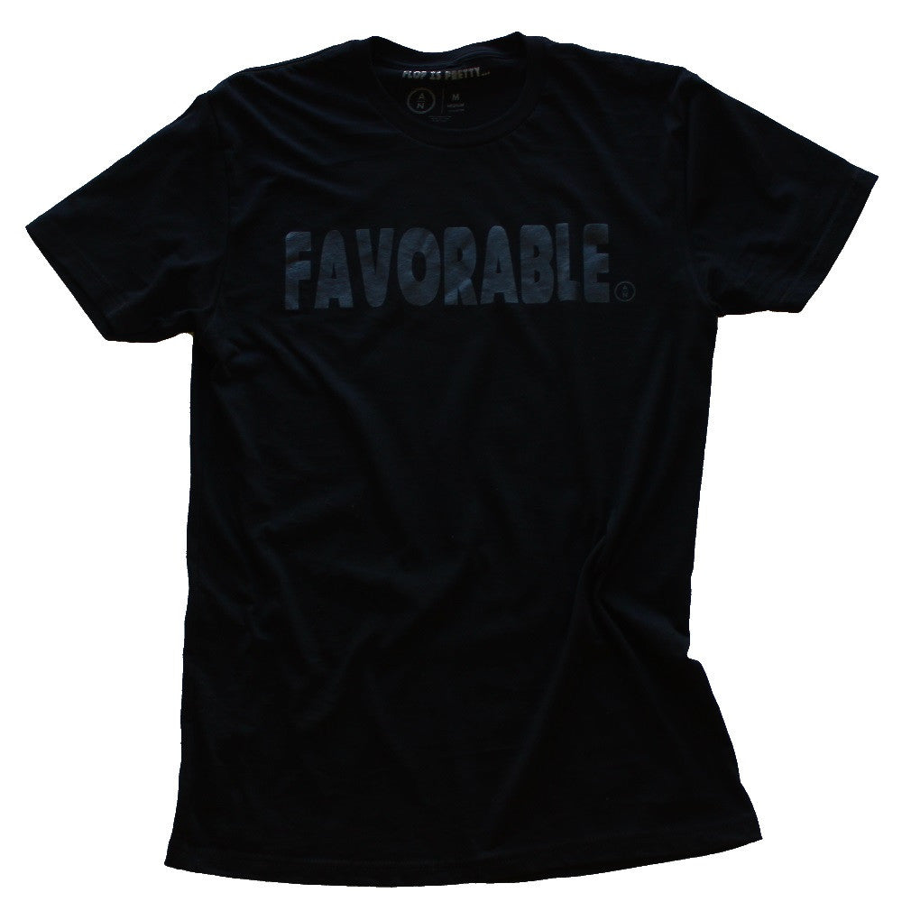 FAVORABLE T-SHIRT - BLACK ON BLACK (archived)