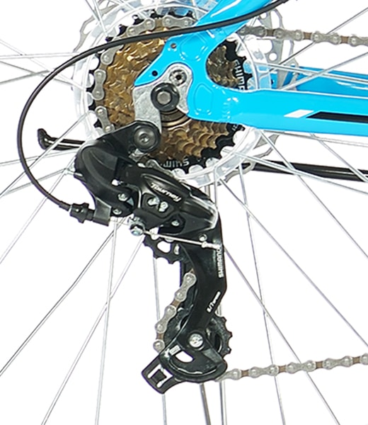 7 Speed Shimano Drivetrain