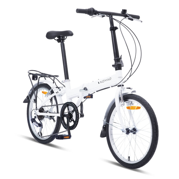 Nomad Folding Bike - Pearl White