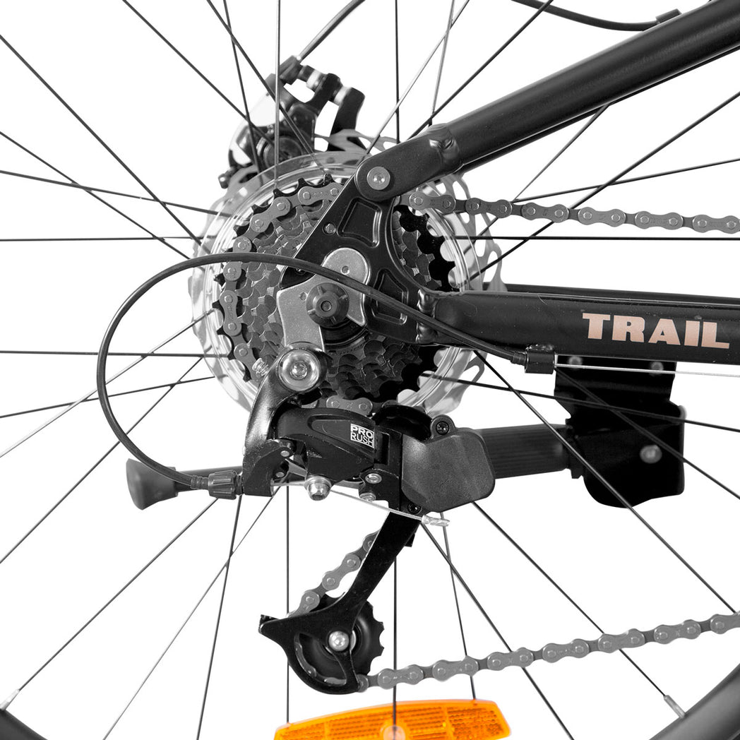 Trail Dual Suspension Mountain Bike - Stealth Black