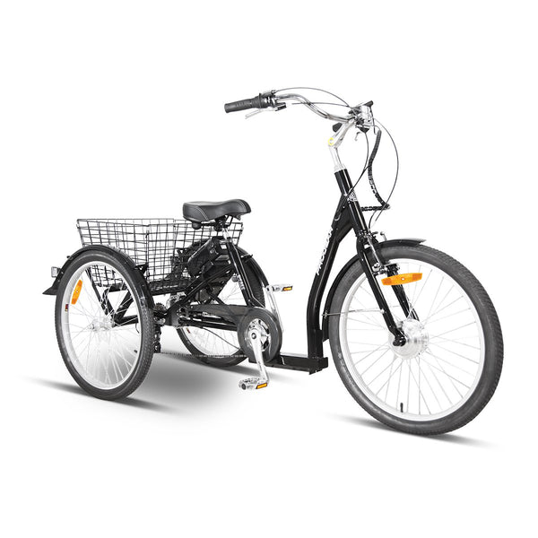 "E-Free 24"" Electric Trike Black with Walk Mode"