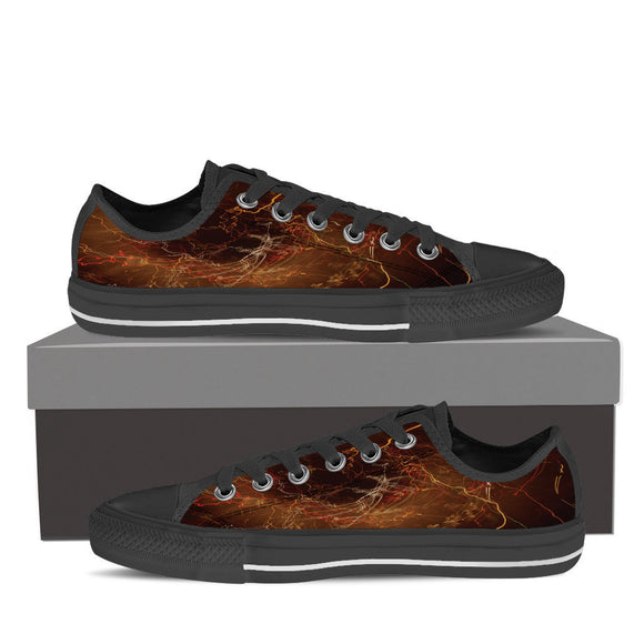Mens Abstract Low Tops