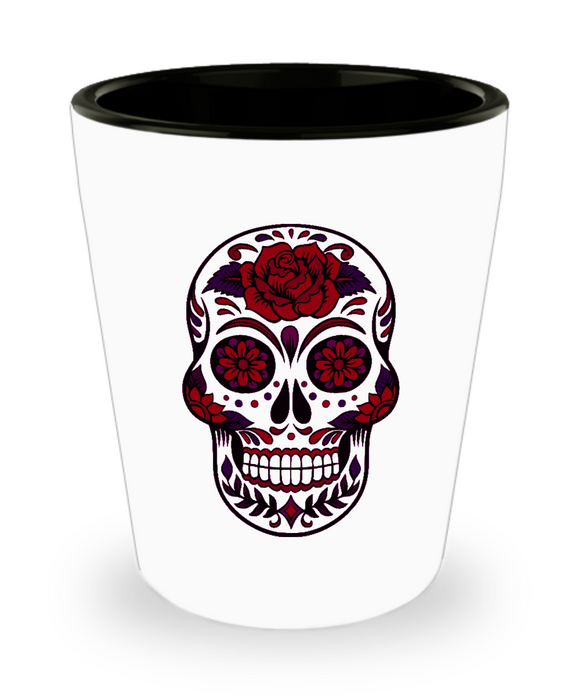 Sugar Skull Shotglass - Day of the Dead - Dia De Los Muertos