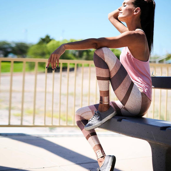 Rose-Gold Striped Legging