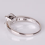 Silver Crystal Ring.