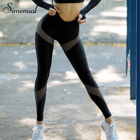 Mesh Splice Fitness Legging