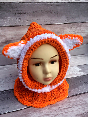 Fox Neckwarmer Hat