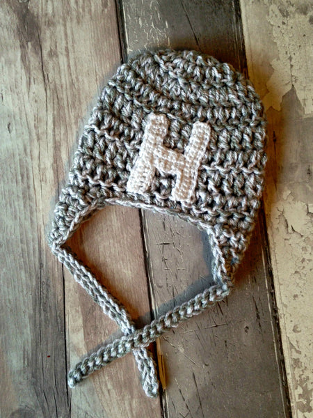 Personalised Initial Earflap Hat