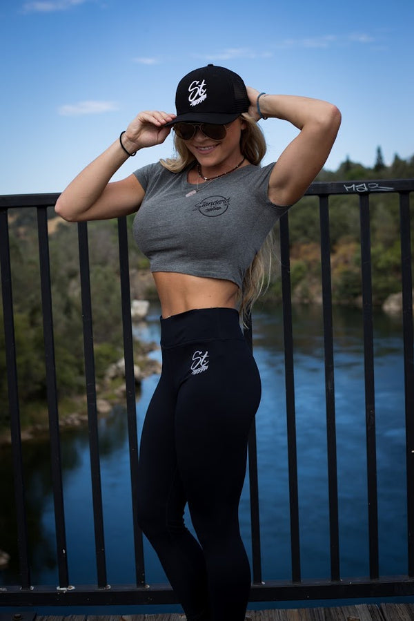 StandardCloCo Active lifestyle brand | Women's Leggings Crop Top Meshback hat Folosm downtown