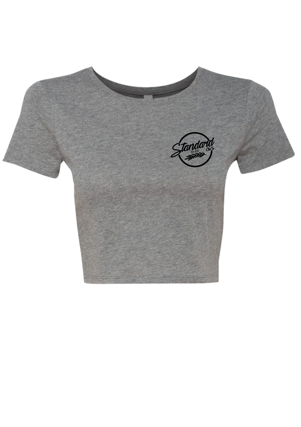 Women's Crop Top - Grey | Signature - Tee | StandardCloCo™