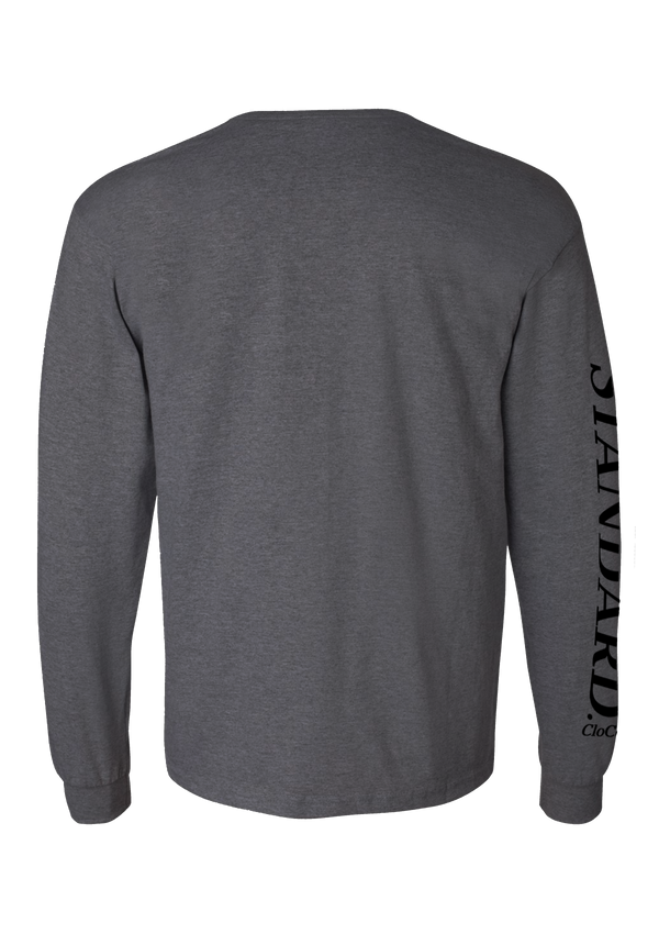 Long Sleeve Pocket Tee - Charcoal | Traditional - Long Sleeve | StandardCloCo™