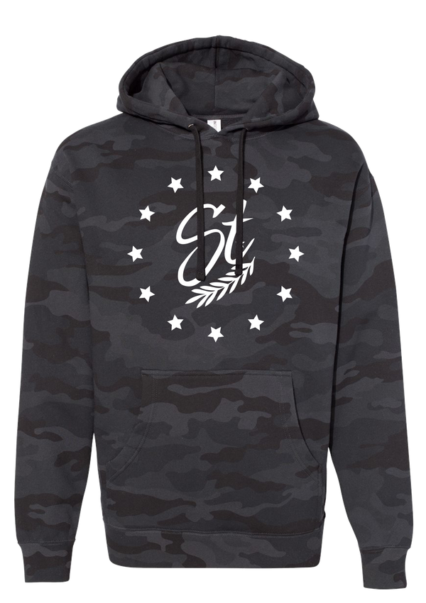 Hooded Pullover - Black Camo | Colony - Sweatshirt | StandardCloCo™