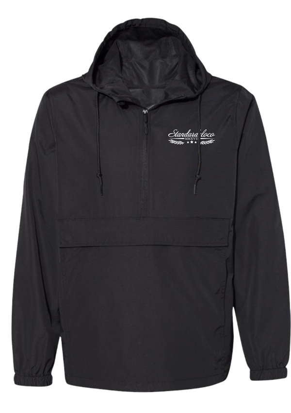 Windbreaker Heavyweight 1/2 Zip - Black | Elevated - Jacket | StandardCloCo™