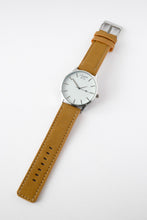 Rotterdam - Men's Watch With Brown Leather Suede Strap - Full View