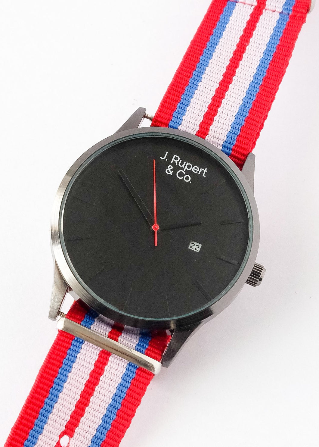 Sofia - Men's Watch With Yorkshire NATO Field Strap - Close Up
