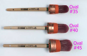 3 Sizes of Oval Staalmeester Brushes.  | fusionmineralpaint.com