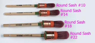 Staalmeester ROUND Paintbrush 4 sizes.  | fusionmineralpaint.com