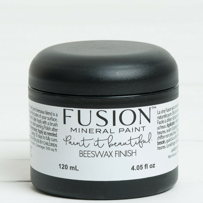 Fusion Beeswax Finishing Wax in a container.   |  fusionmineralpaint.com