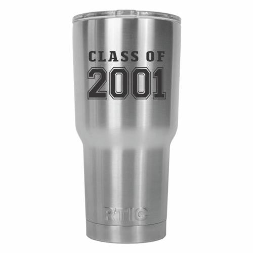 Class of 2001 Graduate Old School RTIC Stainless Steel Tumbler 30oz