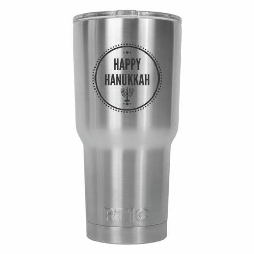 Happy Hanukkah RTIC Stainless Steel Tumbler 30oz