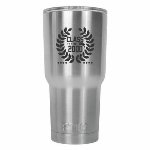 Class of 2000 Graduate Crown Design RTIC Stainless Steel Tumbler 30oz