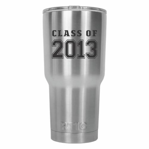 Class of 2013 Graduate Old School RTIC Stainless Steel Tumbler 30oz