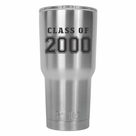 Class of 2000 Graduate Old School RTIC Stainless Steel Tumbler 30oz