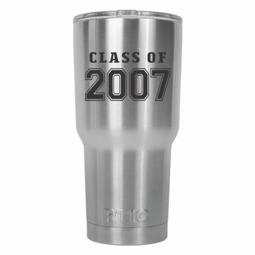 Class of 2007 Old School RTIC Stainless Steel Tumbler 30oz