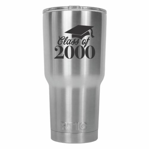Class of 2000 Graduate RTIC Stainless Steel Tumbler 30oz