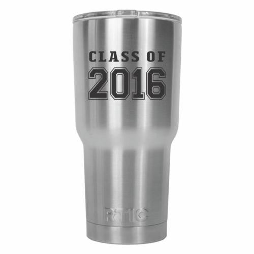 Class of 2016 Graduate Old School RTIC Stainless Steel Tumbler 30oz