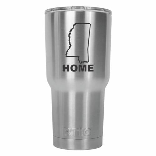 Mississippi Home State RTIC Stainless Steel Tumbler 30oz