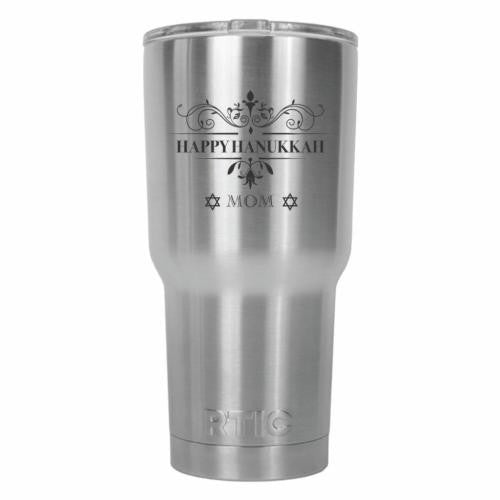 Happy Hanukkah Mom Tradition RTIC Stainless Steel Tumbler 30oz