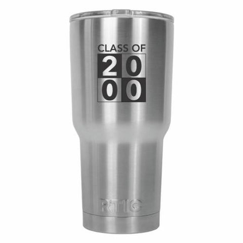 Class of 2000 Graduate Modern Design RTIC Stainless Steel Tumbler 30oz