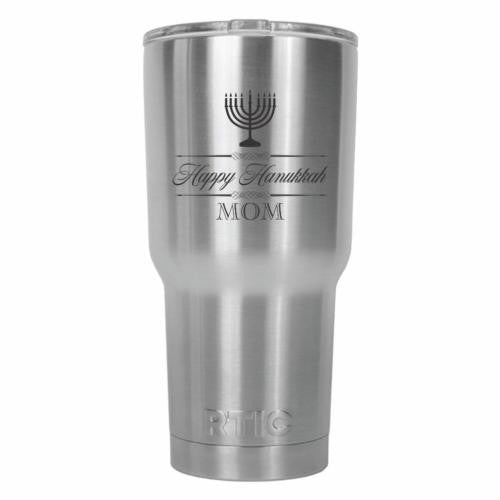 Happy Hanukkah Mom RTIC Stainless Steel Tumbler 30oz