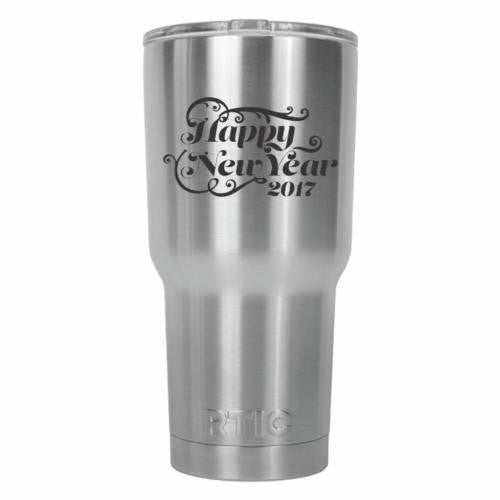 Happy New Year 2017 Flourish Wind RTIC Stainless Steel Tumbler 30oz