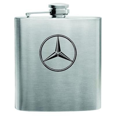 Mercedes Benz Stainless Steel Hip Flask 6oz
