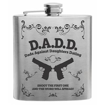 D.A.D.D. Shoot The First One Stainless Steel Hip Flask 6oz