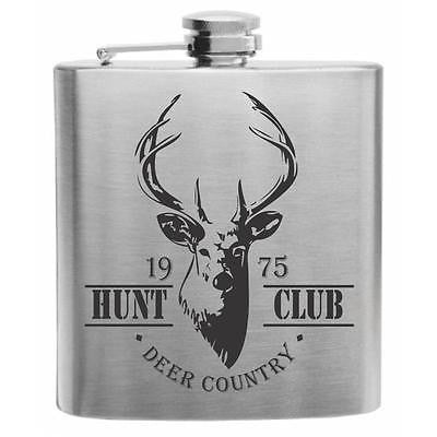 Hunt Club Stainless Steel Hip Flask 6oz