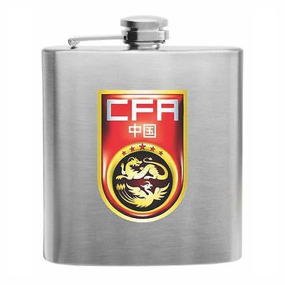 China Football Stainless Steel Hip Flask 6oz