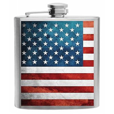 United States Flag Stainless Steel Hip Flask 6oz