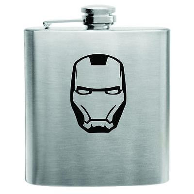 Iron Man Stainless Steel Hip Flask 6oz