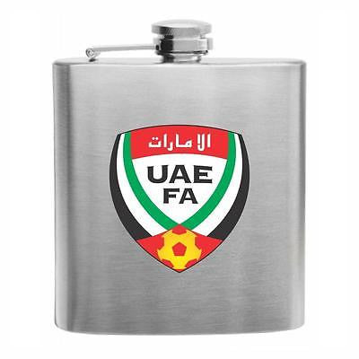 UAE Football Stainless Steel Hip Flask 6oz
