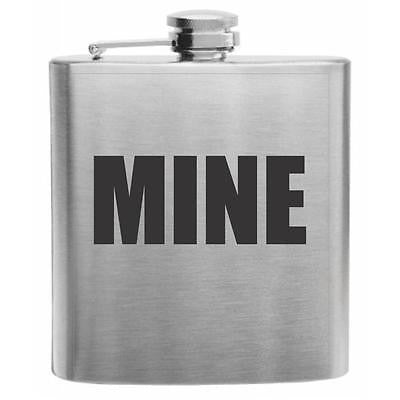 MINE Stainless Steel Hip Flask 6oz