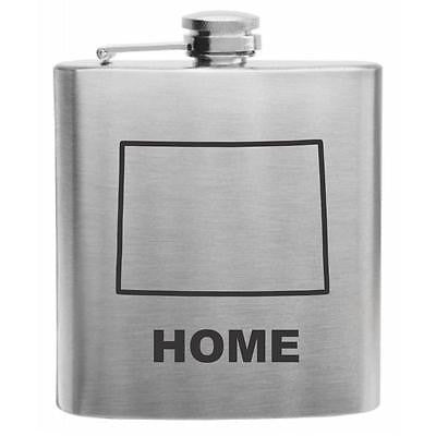 Colorado Home State Stainless Steel Hip Flask 6oz