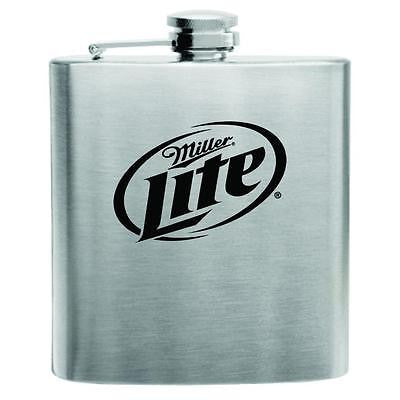Miller Lite Stainless Steel Hip Flask 6oz