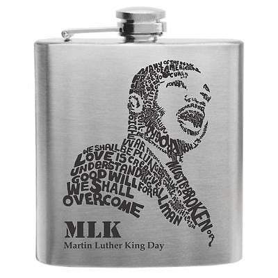 Martin Luther King Jr. Day -MLK- Stainless Steel Hip Flask 6oz